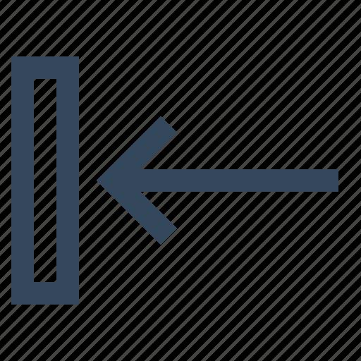 arrow, direction, left, move, move left icon