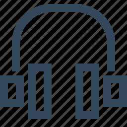 customer service, earphones, headphones, helpline, music icon