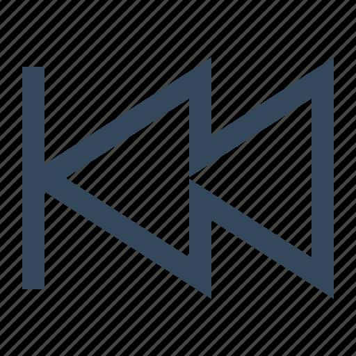 backwards, previous, rewind icon