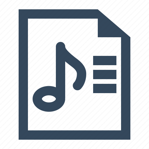 file, music list, playlist, playlist file icon