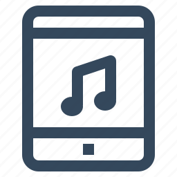 music, music player, tablet icon