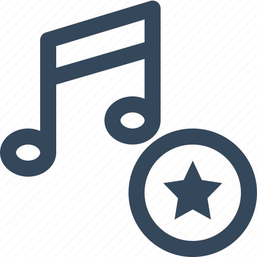 favorite music, stared music icon