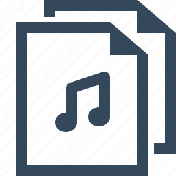 files, mp3 file, music files, song files icon