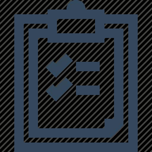 checklist, clipboard, list, organization, to do list icon