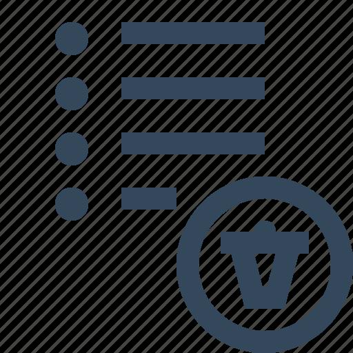 delete list icon