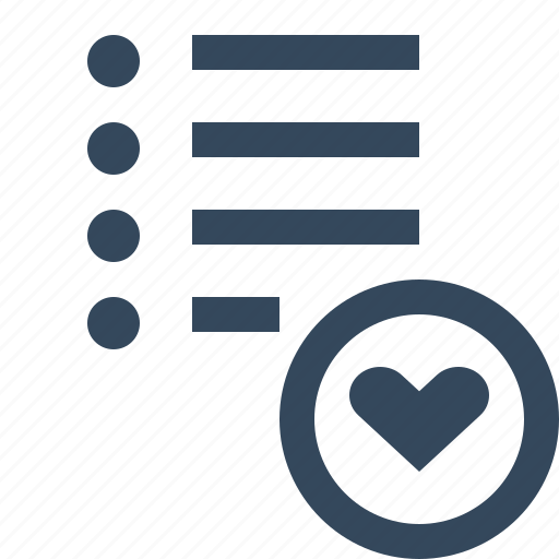 favorite list icon