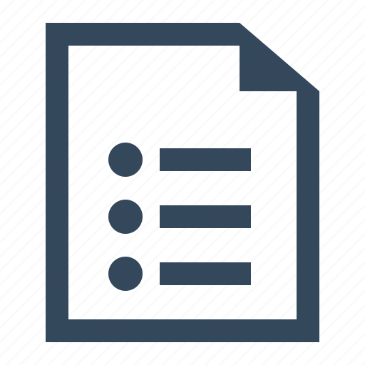 list file icon