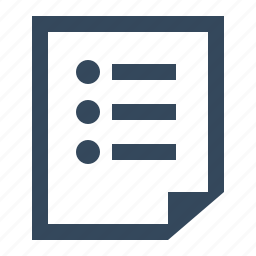 list note icon