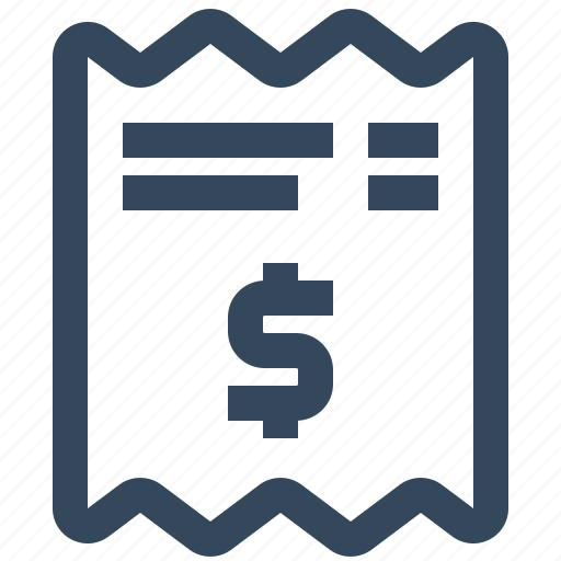 bill, fees, invoice, payment, receipt icon