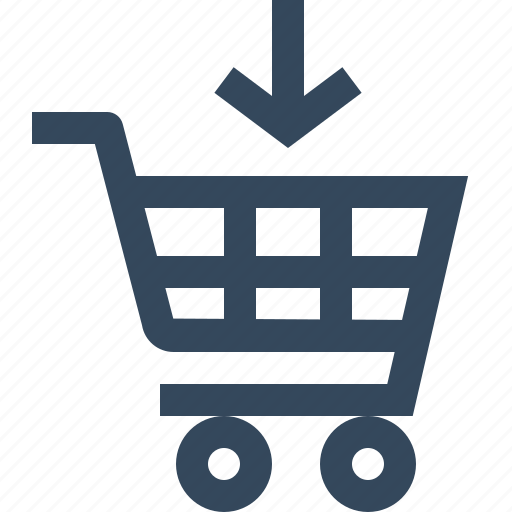 add, arrow, shopping cart, to icon