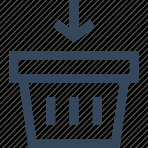 add, basket, cart, shopping basket icon