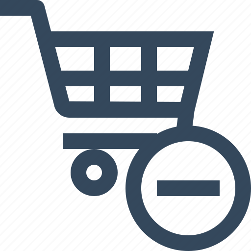 cart, minus, remove, shopping cart icon