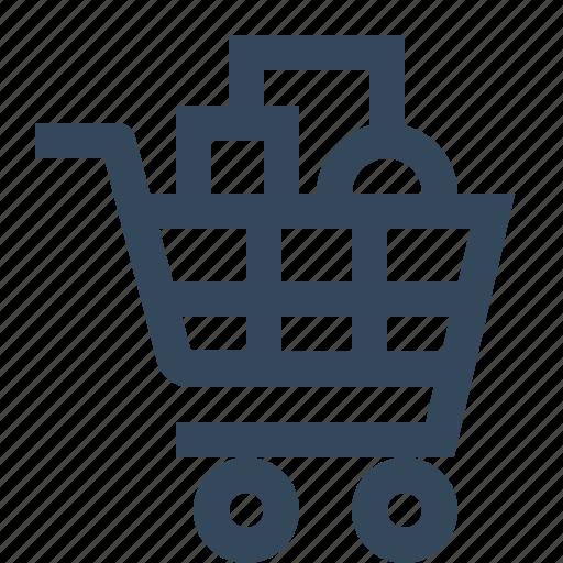 cart, goods, shopping, shopping cart icon