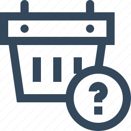 basket, question mark icon