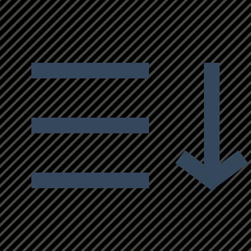 Sort, sort descending, sort list, sorting icon - Download on Iconfinder