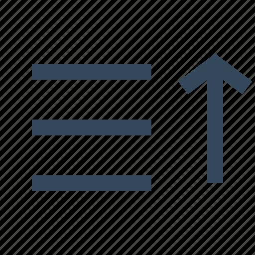 filter, sort, sort ascending, sort list, sorting icon