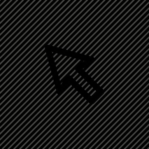 arrow, beast, clic, connection, online, ui icon