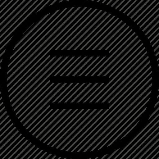 burger menu, circle, hamburger menu, menu, menu button icon