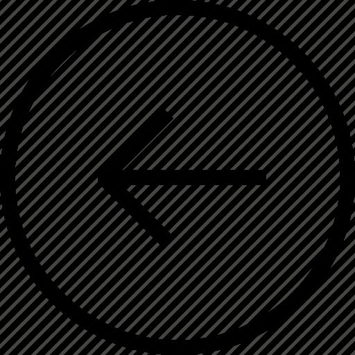 arrow, arrow left, arrows, circle, direction, left, navigation icon
