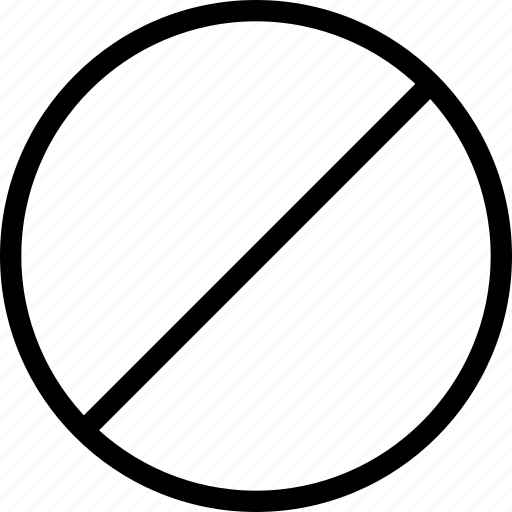 circle, decline, forbidden, prohibited, reject, stop icon
