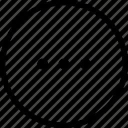 circle, ellipsis, more, progress, waiting icon