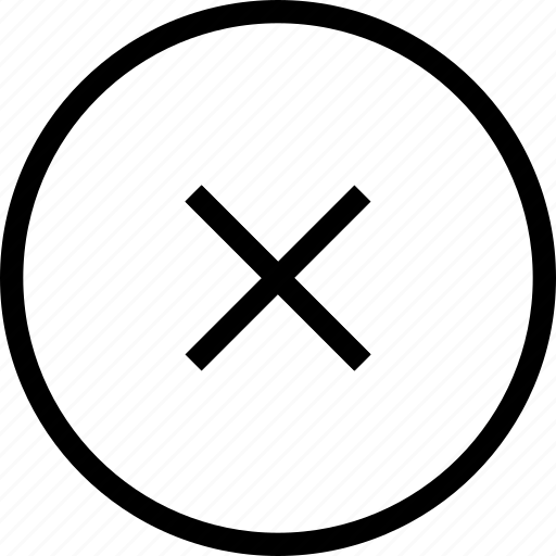 cancel, circle, close, declined, delete, failure, remove icon