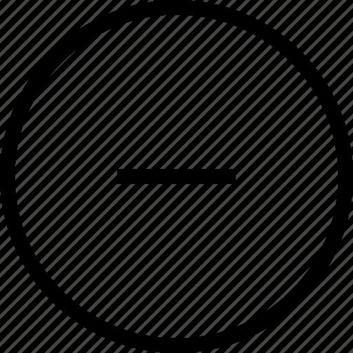 circle, declined, delete, minus, remove icon