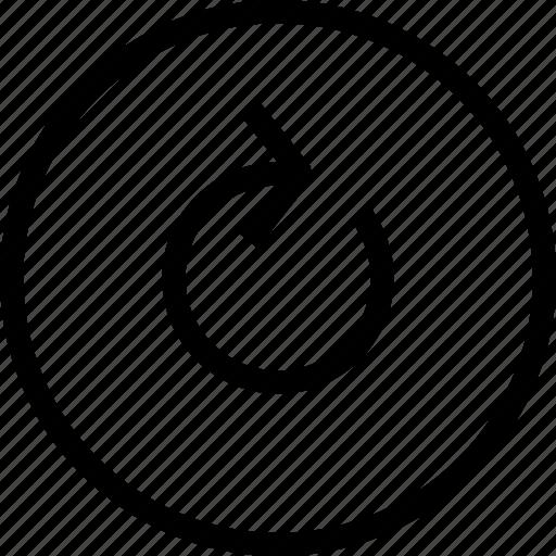 arrow, circle, refresh, reload, restart, rotate icon