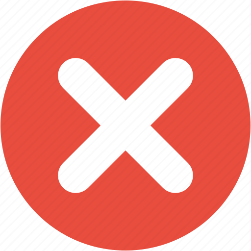 Cancel, close, exit, remove, stop, delete, x sign icon - Download on Iconfinder