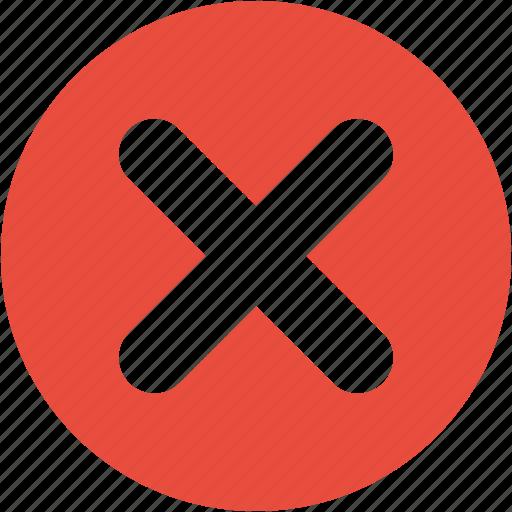 cancel, close, delete, exit, remove, stop, x sign icon