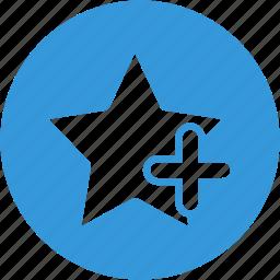 add, bookmark, favorite, like, new, plus, star icon