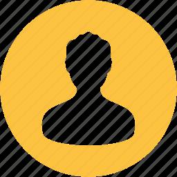 account, avatar, man, people, person, profile, user icon