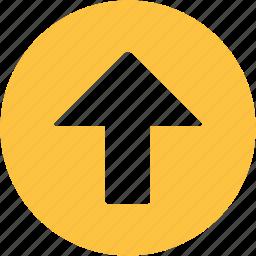 arrow, interface, move, next, up arrow, upload icon