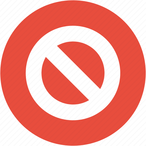 ban, cancel, close, exit, forbidden, no entry, stop icon
