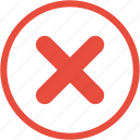 cancel, close, closed, exit, stop, tick, x sign icon