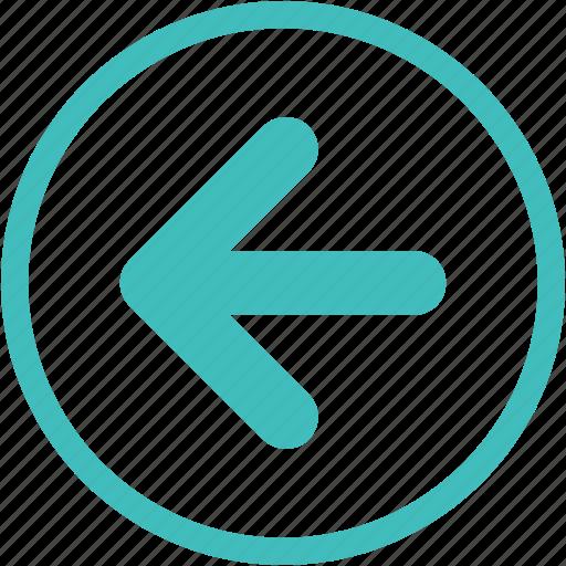 arrow, arrow left, back, creative, move icon