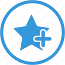 new, plus, star, add, bookmark, favorite, like