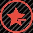 delete, minus, star, bookmark, cancel, close, remove