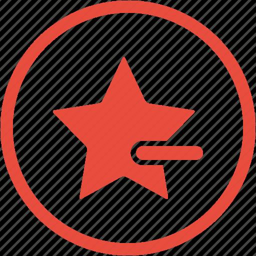 bookmark, cancel, close, delete, minus, remove, star icon