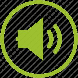 audio, medium, note, social, sound, speaker, volume icon