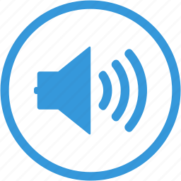 audio, loud, note, social, sound, speaker, volume icon