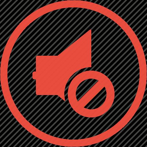 cancel, communication, media, mute, sound off, speaker, volume icon