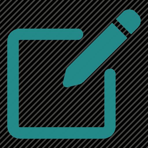 archive, edit, new file, pen, pencil icon
