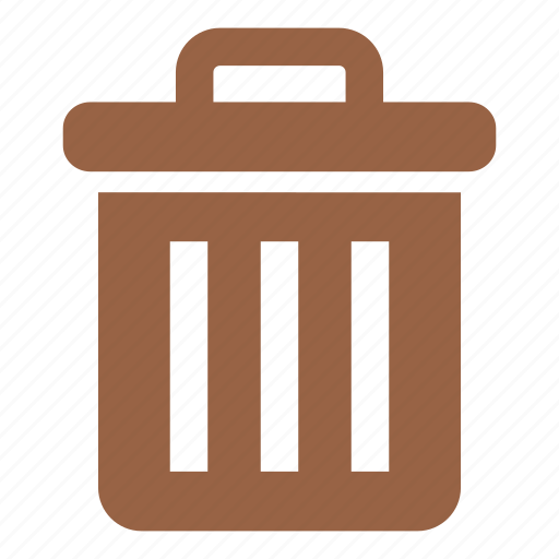 garbage bin, garbage can, rubbish bin, trash, trash can icon