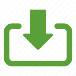 arrow, down arrow, download, file, file download, get, save file icon