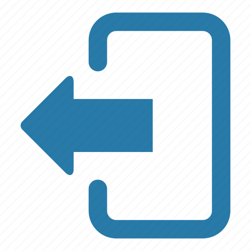 exit, forward, left arrow, log out, resume, web page icon