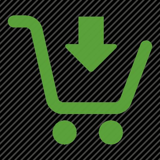 add, arrow, buy, cart, shopping cart icon
