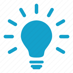 bright, fluorescent, heat, idea, lamp, light bulb, source icon