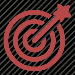 bullseye, dart, nailed, resume, target icon