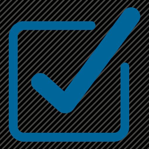 check box, check mark, check square, correct, test, tick icon